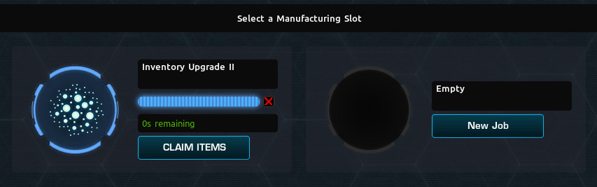Claim completed research jobs on this screen