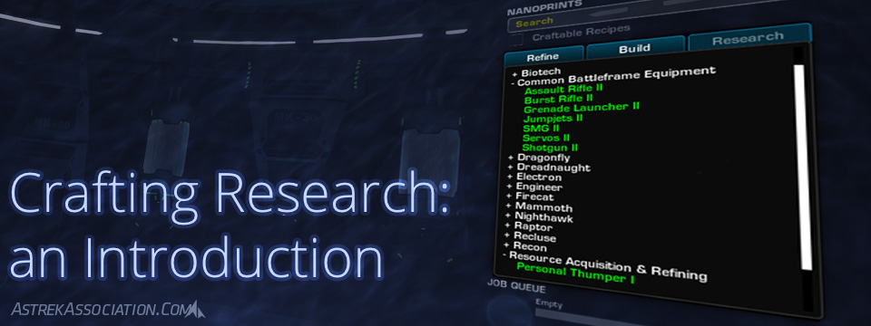 The Crafting Research Interface