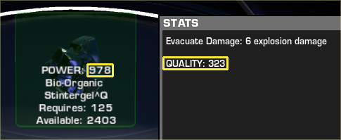 The discrepancy between resource quality and item quality.